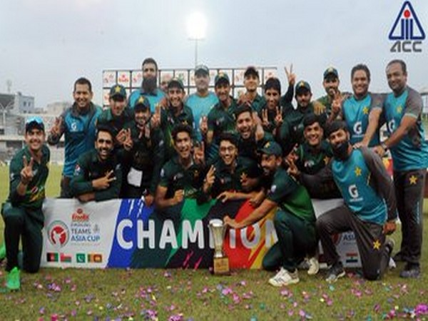 Pakistan team after winning the ACC Emerging Teams Asia Cup 2019. (Photo/Pakistan Cricket Twitter)