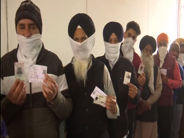 Voters at Ward number 37 of Amritsar during Punjab civic body elections on Sunday.