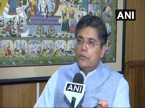 Former BJD MP Baijayant Jay Panda talking to ANI in New Delhi on Monday after joining BJP