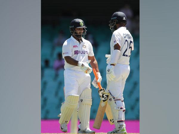 India batsman Rishabh Pant with Cheteshwar Pujara during the SCG Test (Photo/ BCCI Twitter)
