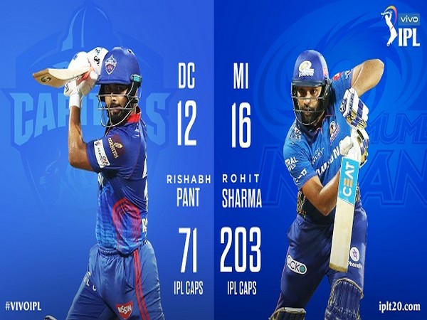 Delhi Capitals captain Rishabh Pant and Mumbai Indians skipper Rohit Sharma (Image: BCCI/IPL)