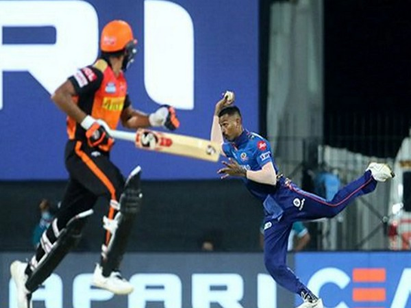 Hardik Pandya in action against SRH (Image: BCCI/IPL)