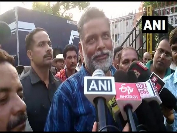 Jan Adhikar Party chief and former MP Pappu Yadav speaking to reporters on Thursday.