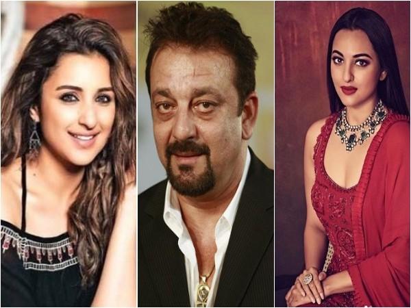 Parineeti Chopra, Sanjay Dutt and Sonakshi Sinha, Image courtesy: Instagram
