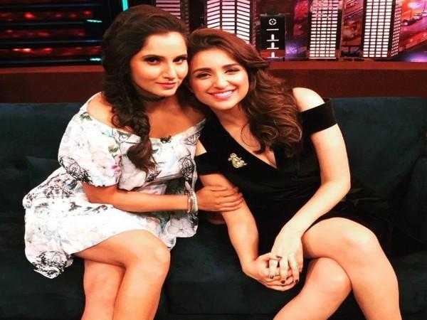 Sania Mirza and Parineeti Chopra (Image courtesy: Twitter)