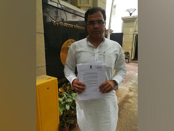 BJP MP Parvesh Sahib Singh Verma at L-G secretariat on Thursday