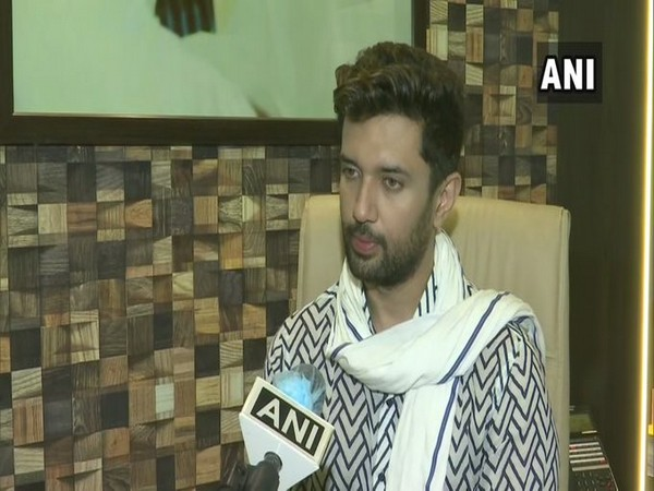 Chirag Paswan speaking to ANI in New Delhi on Tuesday.