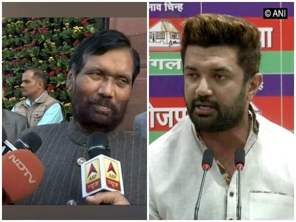 Ram Vilas Paswan is likely to pass the baton of LJP leadership to his son Chirag Paswan. (File photo)