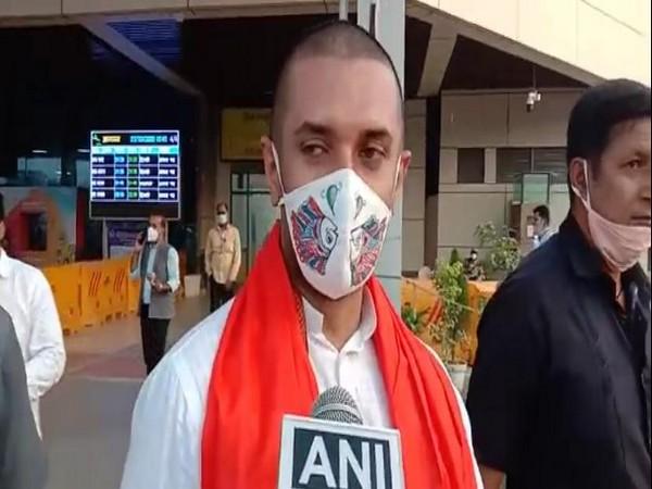 Chirag Paswan speaking to ANI in Patna on Tuesday.