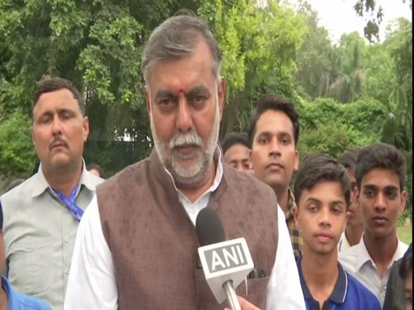 Union Minister Prahlad Singh Patel speaking to ANI in New Delhi on Tuesday. Photo/ANI