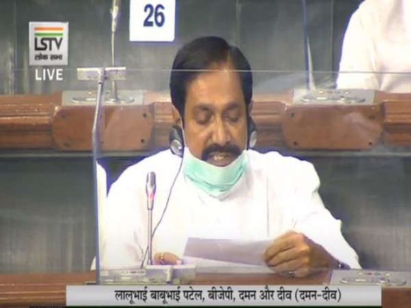 BJP MP Lalubhai Patel speaking in Lok Sabha on Wednesday.