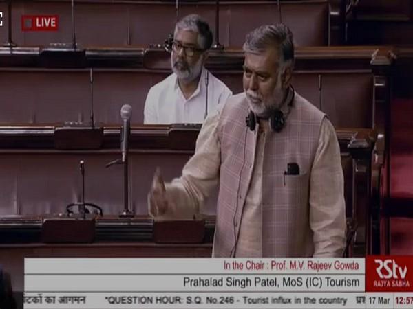 Prahlad Singh Patel speaking in Rajya Sabha.