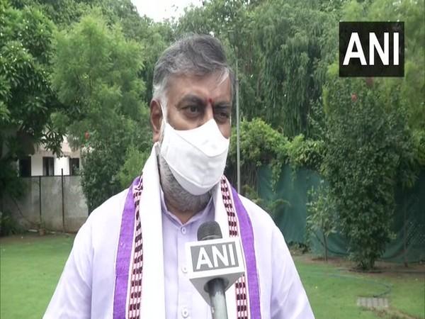 Prahlad Singh Patel speaking to ANI in New Delhi on Tuesday.