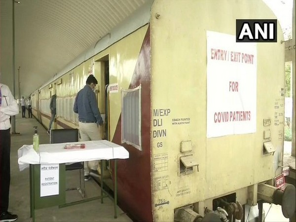 50 isolation coaches have been deployed at Shakur Basti Railway Station in Delhi.