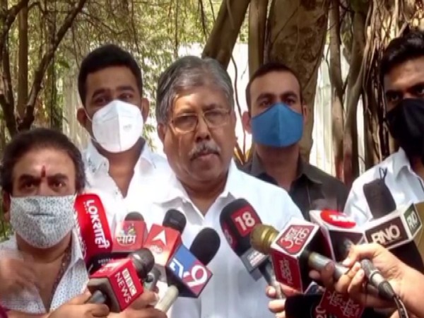 Maharashtra BJP chief Chandrakant Patil speaking to reporters in Pune on Monday.