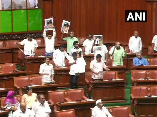 Visuals from Karnataka Assembly