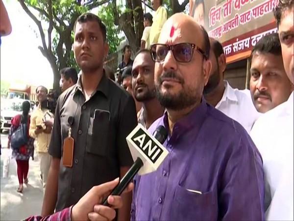 Shiv Sena MLA Gulabrao Patil talking to ANI in Mumbai on Thursday