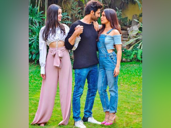 Ananya Panday, Kartik Aaryan and Bhumi Pednekar's first look from 'Pati Patni Aur Woh' remake, Image courtesy: Instagram