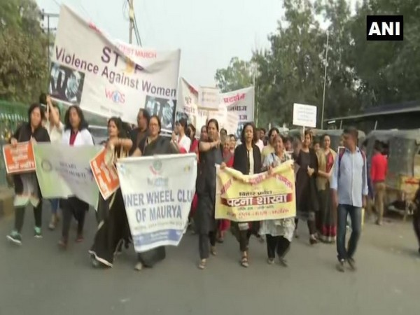 Protest erupts in Patna demanding justice in Telangana rape-murder case. Photo/ANI