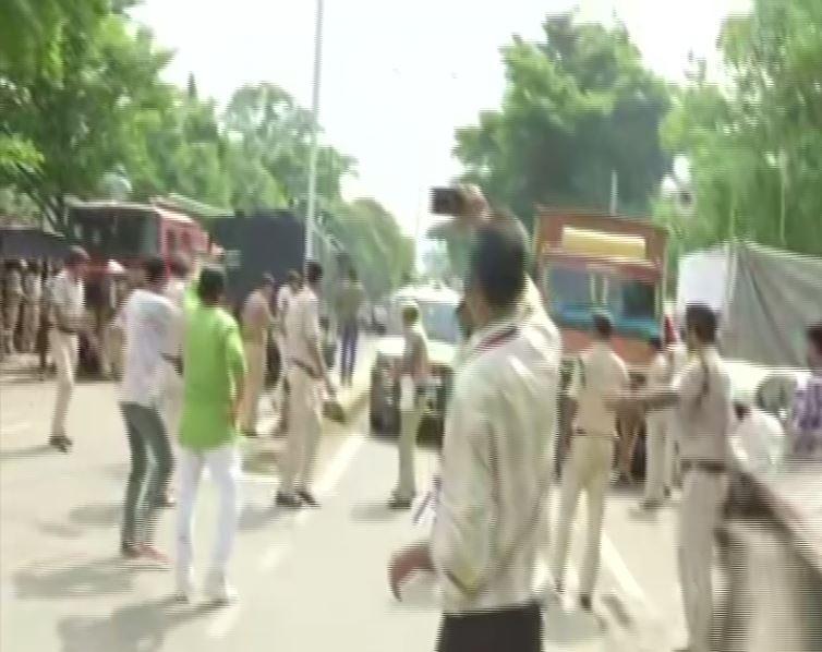 Visual from Patna on Thursday. Photo/ANI