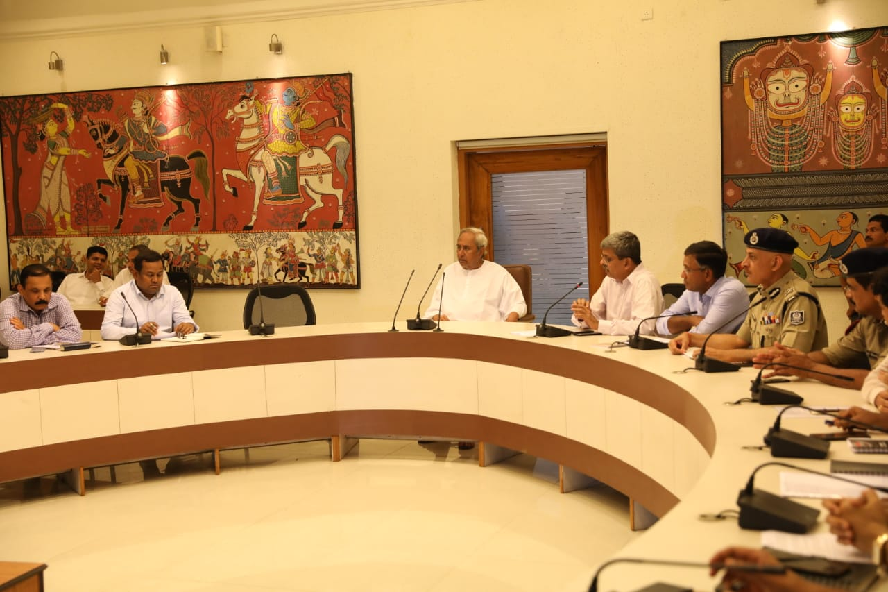 Odisha Chief Minister Naveen Patnaik reviewing situation after cyclonic storm Fani made landfall in state.