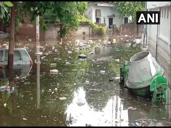 A visual from a waterlogged area in Patna, Bihar.