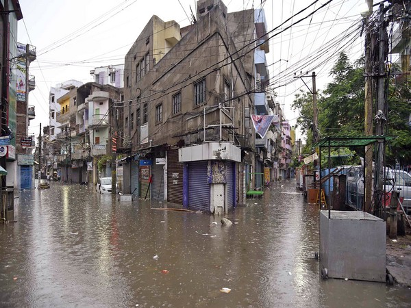 Photo from a waterlogged street in Patna.