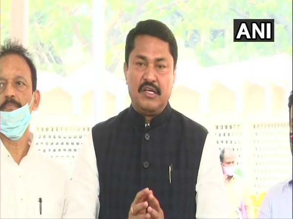 Maharashtra Congress chief Nana Patole speaking to media in Mumbai on Friday. (Photo/ANI)
