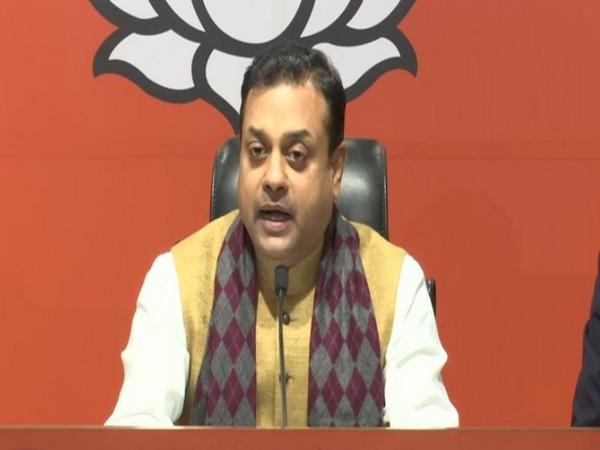 BJP spokesperson Sambit Patra addressing a press conference in New Delhi on Monday. Photo/ANI