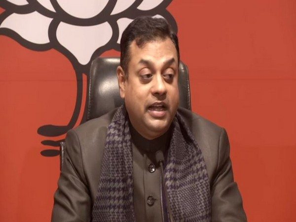 BJP leader Sambit Patra speaking to reporters at a press conference in New Delhi on Friday. Photo/ANI