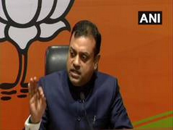 BJP national spokesperson Sambit Patra speaking at a press conference in New Delhi on Saturday. Photo/ANI