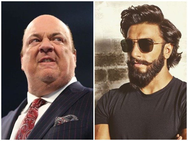 Paul Heyman and Ranveer Singh (Image courtesy: Instagram)
