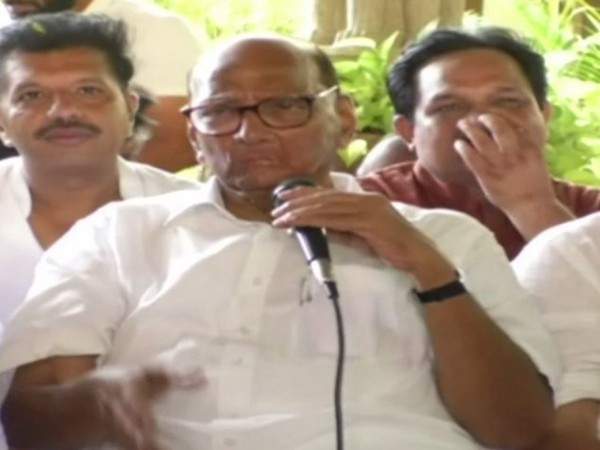 NCP Chief Sharad Pawar at press conference in Thane on Thursday