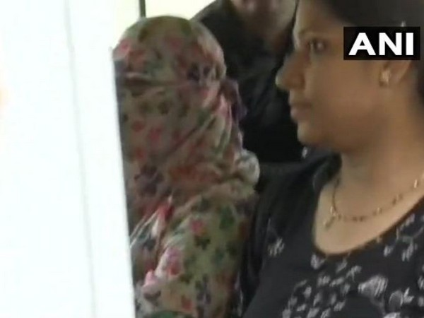 Accused Ankita Khandelwal was seen outside the Sessions' Court in Mumbai on Wednesday. Photo/ANI