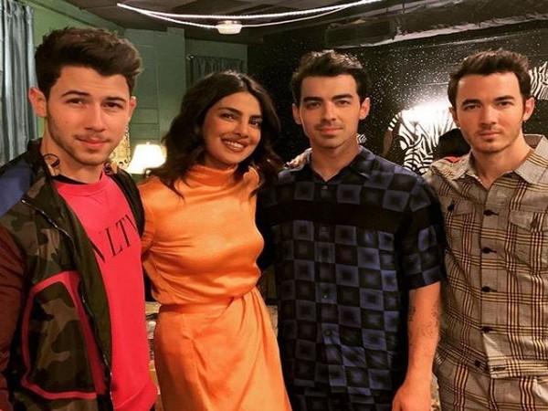 Nick Jonas, Priyanka Chopra, Joe Jonas and Kevin Jonas, Image courtesy: Instagram