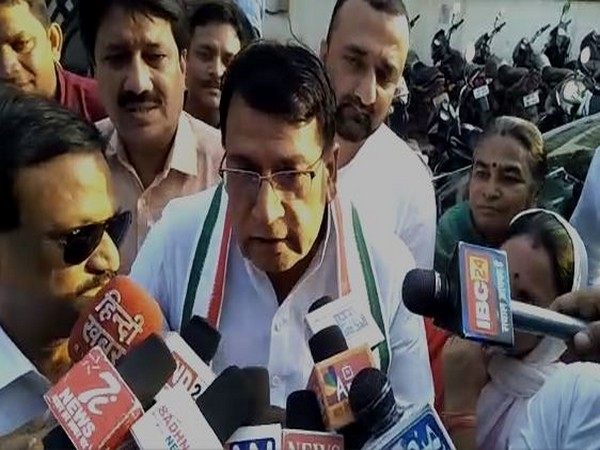 Cabinet Minister PC Sharma speaking to reporters in Bhopal on Tuesday. Photo/ANI