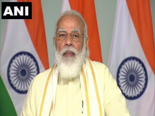 Prime Minister Narendra Modi virtually addressing the centenary convocation of the University of Mysore. (Photo/ANI)