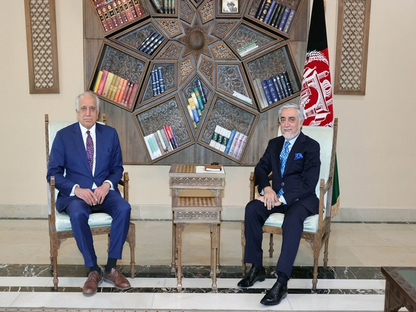US Special Representative for Afghanistan Zalmay Khalilzad arrived in Kabul and held a meeting with Abdullah Abdullah. (Photo credit: Abdullah Abdullah Twitter)