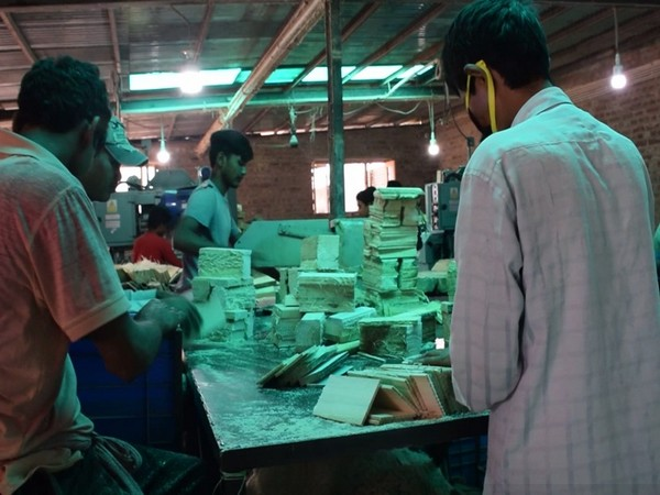 A visual from the pencil slat factory in pulwama, Jammu and Kashmir.