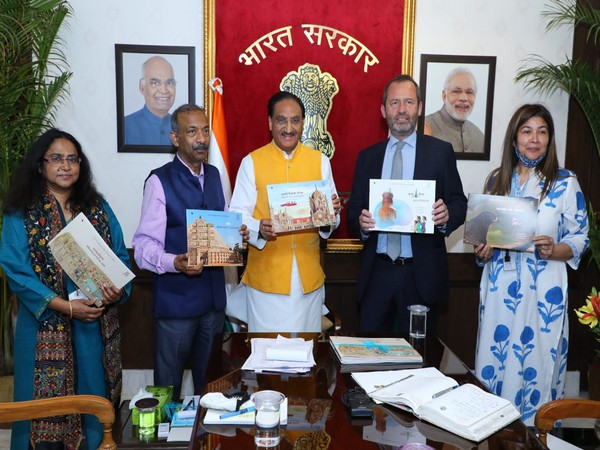 Union Education Minister Ramesh Pokhriyal 'Nishank' held a virtual meeting Director General UNESCO, Audrey Azoulay in New Delhi Thursday.