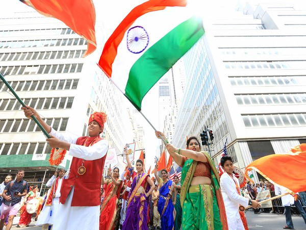 NY streets were resplendent with the tricolour and reverberated with chants of 'Vande Mataram' and 'Jai Hind'.