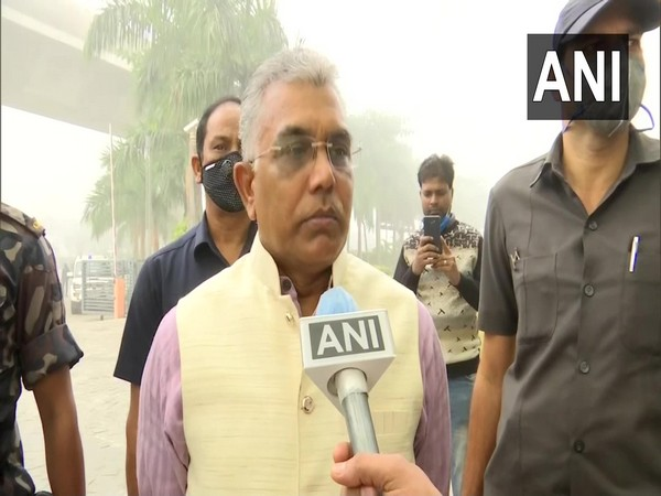 Bharatiya Janata Party's (BJP) state president Dilip Ghosh speaking with ANI on Thursday.