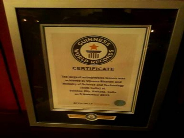 Guiness World Records certificate. PIB photo