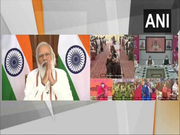 Prime Minister Narendra Modi adressing the people virtually. (File Photo/ANI)