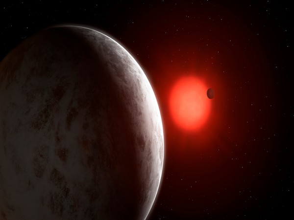 Artistic view of multiplanetary system of newly discovered super-Earths orbiting near red dwarf Gliese 887 (Image Source: University of Gottingen/Mark Garlick)