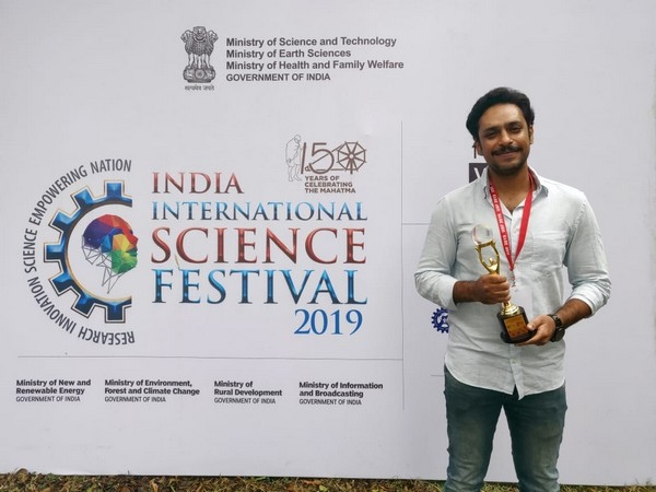 Rahul Yadav won the trophy for independent film in the short science fiction category