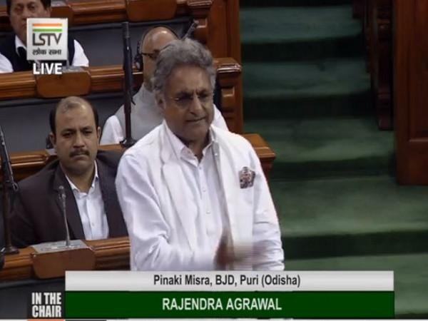 BJD MP Pinaki Misra speaking in the Lok Sabha. (Image courtesy: LSTV)