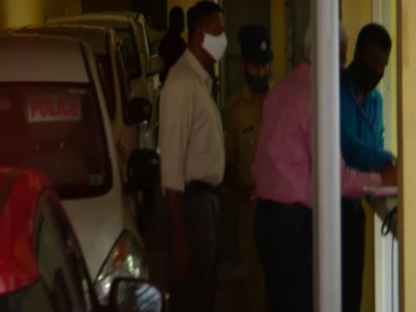 Kerala IT secretary M Sivashankar at NIA office in Kochi on Tuesday [Photo/ANI]