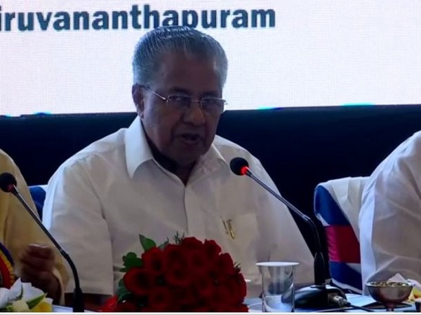 Kerala Chief Minister Pinarayi Vijayan heading a high level meet in Thiruvananthapuram. Photo/ANI