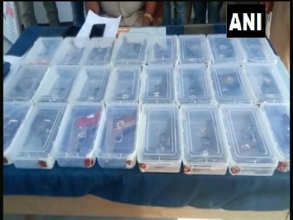 Illegal arms recovered by UPSTF from a gang in Hardoi, Uttar Pradesh.